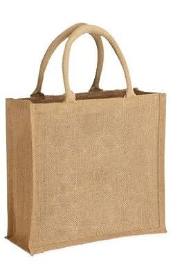 Mini Medium Natural Jute Hessian Bag 30 X 30 X 12cm