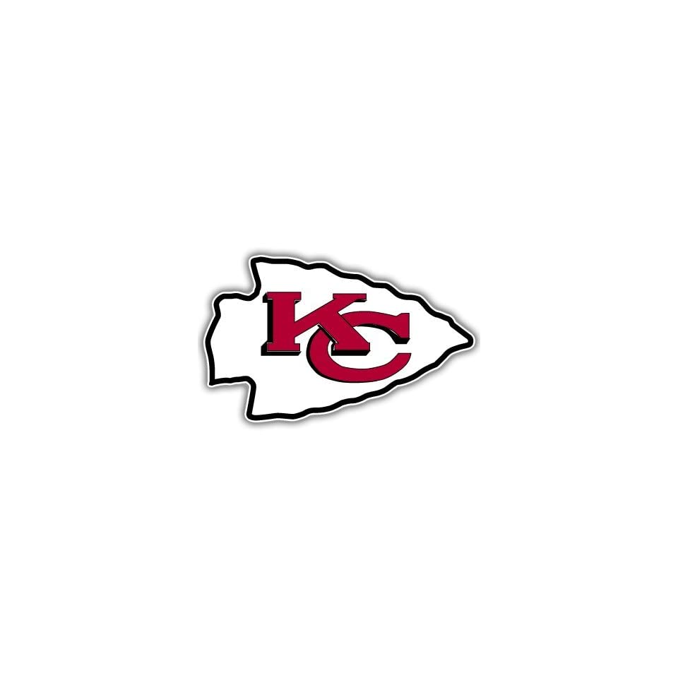Kansas City Chiefs NFL Football bumper sticker 5 x 3