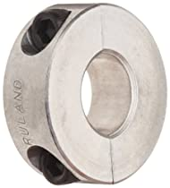 Ruland SP-18-A Two-Piece Clamping Shaft Collar, Aluminum, 1.125