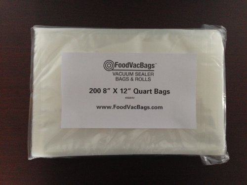 FoodVacBags 200 8 X 12 Quart Vacuum Sealer Bags Professional Grade Foodsaver Type at Sears.com