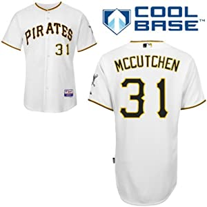 Andrew Mccutchen Pittsburgh Pirates Home Authentic Cool Base Jersey by Majestic by Majestic