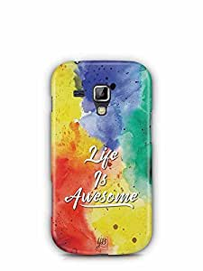 YuBingo Life is Awesome Designer Mobile Case Back Cover for Samsung Galaxy S Duos