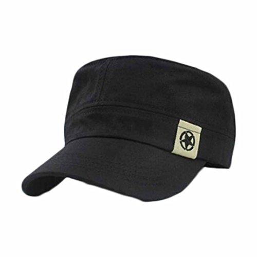 fortan-unisex-flache-dach-militarhut-baseballmutze-spitzenkappe-schwarz