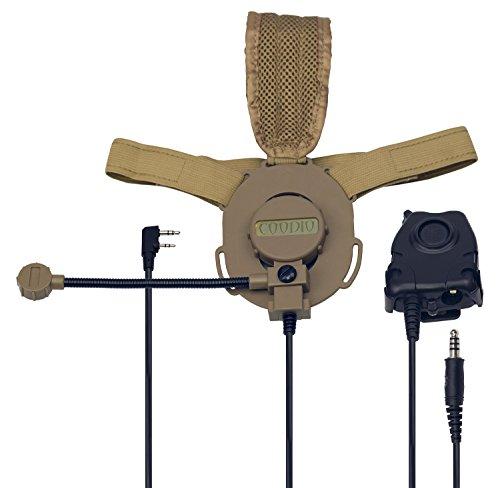 coodio-kenwood-radio-tactico-auriculares-2-pin-micro-auricular-microfono-giratorio-con-grande-ptt-de