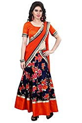 Panchi Women's Bhagalpuri Printed Multicolor Lehenga Choli (Unstitched)