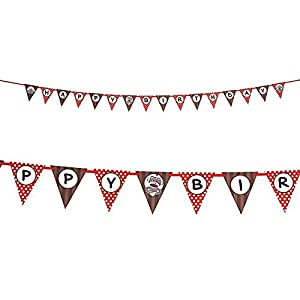 Sock Monkey Ribbon Flag Banner