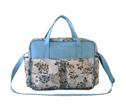 Good&god Satchel Diaper Bag Baby Tote Changing Shoulder Bag, Blue