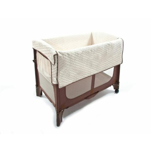 Cheap Arm's Reach Concepts Mini Convertible Arc Co-Sleeper Bedside Bassinet, Cocoa/Natural