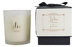 Jolie Sustainable Luxury Candle, gardenia 6 Ounce