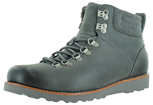 Ugg Australia Capulin Men's Leather Sheepskin Boots Gray Size 13