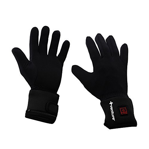 Venture Heat City Collection Heated Glove Liners (Black, Large) (Battery Powered Glove Liners compare prices)