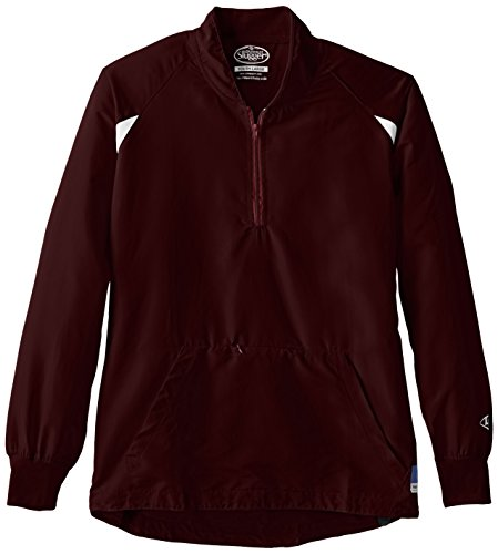 Louisville Slugger Boy's Batting Cage Pull-Over Long Sleeve Jacket, Large, Maroon