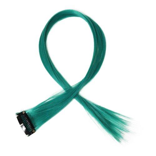 """Bunte Strähnchen 1 x Clip In Extensions 50cm (20"""") Haarverlängerung glatt langhaarHaarteil (7)"""