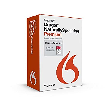 Dragon NaturallySpeaking Premium 13 + McAfee Total Protection Premium Edition- Amazon Exclusive Bundle
