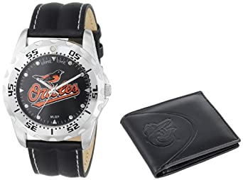 Game Time Unisex MLB-WWS-BAL Wallet and Baltimore Orioles MLB Watch Set by Game Time