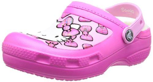 Crocs, CC H. Kitty Bow Lined Sabot K, Zoccoli e sabot, Unisex - bambino, Viola (NEMA), 29-31