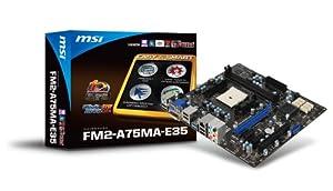 MSI Socket FM2/AMD A75/DDR3/SATA3&USB3.0/A&GbE/MicroATX Motherboard FM2-A75MA-E35