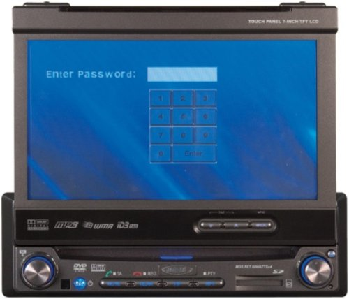 Jensen Vm9512 7-Inch Motorized Touch-Screen Multimedia Receiver front-445998