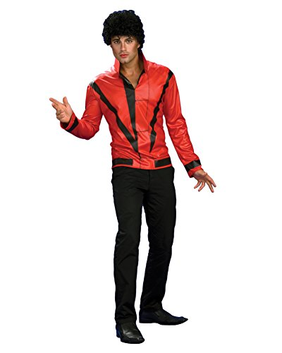 [Thriller Pop Star Jacket Red 80s Jacket King of Pop Celebrity Costumes Sizes: Large] (80s Singers Costumes)