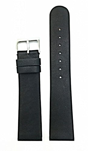 Newlife Black, Flat, Soft Leather With Round End 22Mm