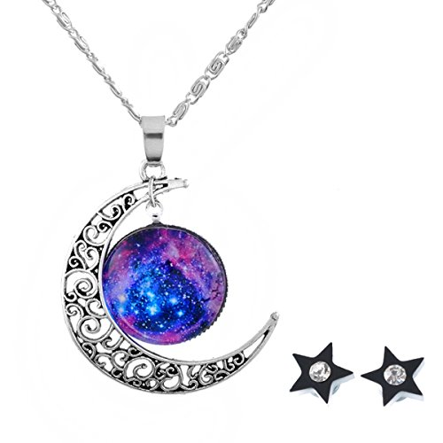 housweety-moon-galaxy-universe-glass-cabochon-pendant-necklace-star-stud-earrings-christmas-gifts