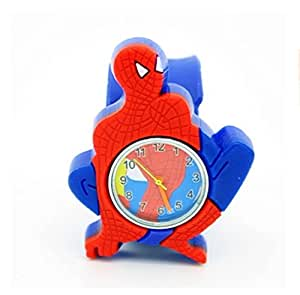 Spiderman Boys Kids Slap On Wrist Watch Quartz Funny