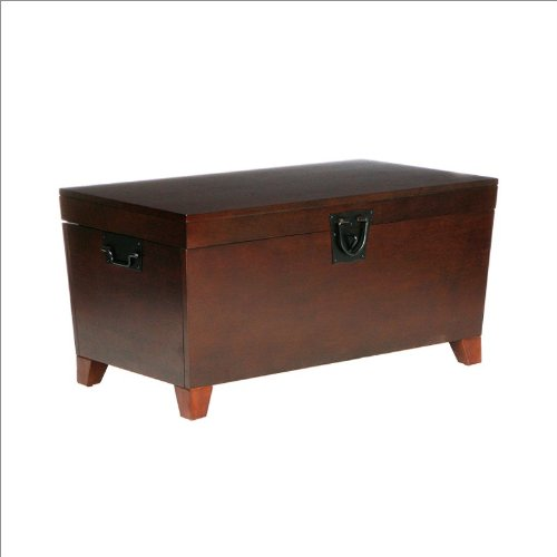 Southern Enterprises Pyramid Trunk Cocktail Table in Espresso
