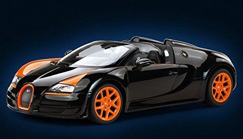 Radio Remote Control 1/14 Bugatti Veyron 16.4 Grand Sport Vitesse Licensed RC Model Car (Black) (Bugatti Veyron Model Car compare prices)