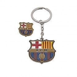 F.C. Barcelona Keyring & Badge Set