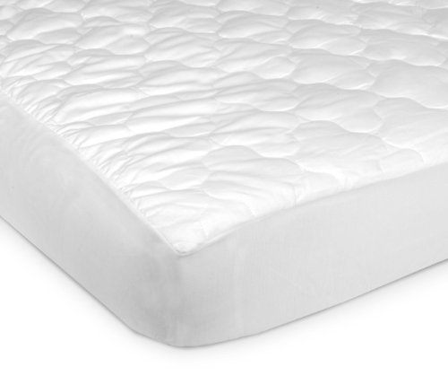 Carter's Keep Me Dry Fitted Quilted 4-Ply Crib Pad, White (Discontinued by Manufacturer) - 1