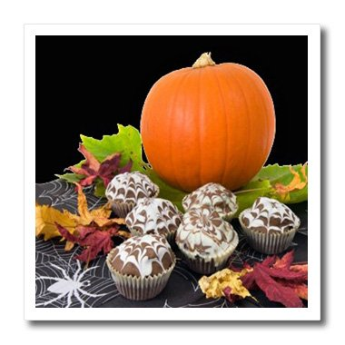 Sandy Mertens Halloween Food Designs - Pumpkin and Cupcakes - 10x10 Iron on Heat Transfer for White Material (Halloween Pumpkin Cupcakes Pictures)