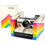 Polaroid Rainbow White One Step SX-70 Instant Camera in Original Box and Manual (Color: white)