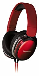 Panasonic RP-HX350ME Red Over-Ear Headphones w/Mic for iPod/MP3player/Mobiles
