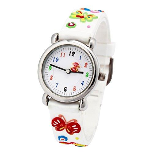 reloj infantil con mariposas en la correa