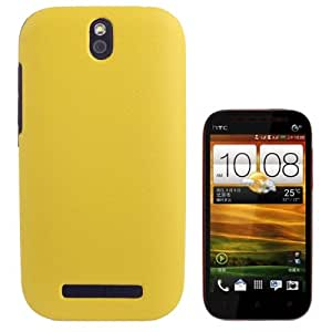 Pebble Texture Plastic Protective Case for HTC One ST / T528t (Yellow)