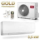 TCL Titanium Gold Inverter Air Conditioner 3.5 KW 12000 BTU Split / Heater + Bracket + 4m Copper Pipe Active Charcoal Filter, Plug & Play Household Plug and Electric Connection JAI