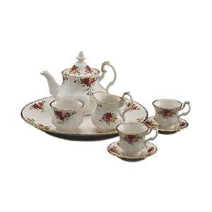 Royal Albert Old Country Roses Le Petite 9-Piece Tea Set by Royal Albert