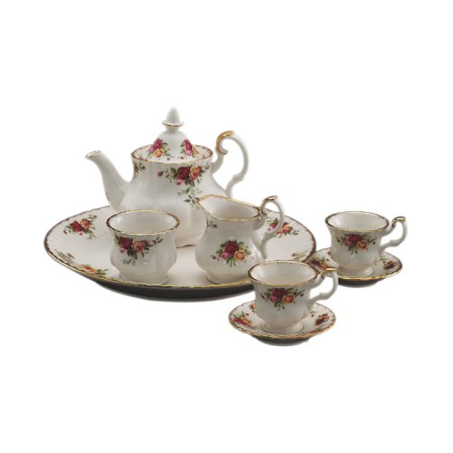 Lowest Prices! Royal Albert Old Country Roses Le Petite 9-Piece Tea Set