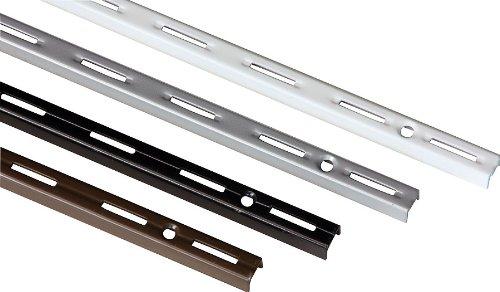 IB-Style - 2 Stück Wandschiene single | Einreihiges System | 6 Abmessungen | 4 Farben | L 14,5 cm silbermatt - für Regalträger Regalsystem Winkel Regalhalter Regalwinkel - MADE IN GERMANY