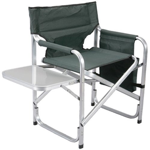 Cheap Faulkner Director Chair with Folding Tray Green Best Prices with Fol