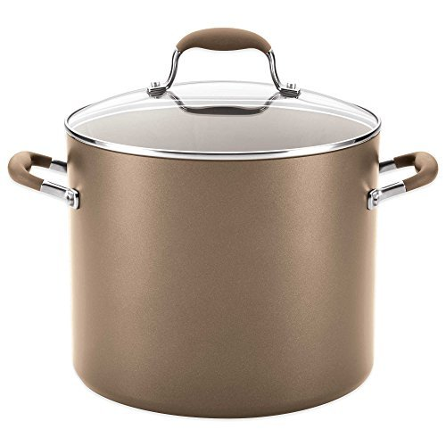 Anolon Advanced Umber 12 qt. Covered Stock Pot