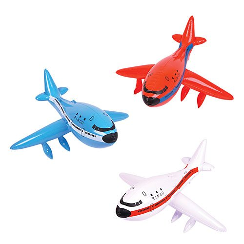 Set of 3 Inflatable AIRPLANES/Jet/747/INFLATES/Birthday PARTY DECORATIONS Favors/Decor/24