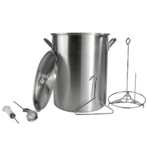 Backyard pro 30 quart aluminum stock pot turkey fry pot for Fish fryer pot