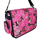 Ladies Girls A4 Floral Flower Patterned Messenger Bag - use School, Holiday, Travel