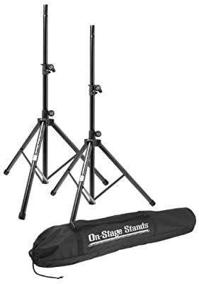 On-Stage Stands All-Aluminum Speaker Stand Pak With Draw String Bag from On-Stage Stands
