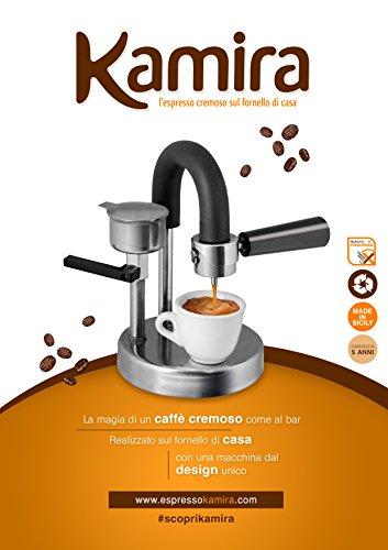 Kamira, l'espresso cremoso sul fornello di casa. (acciaio inox)