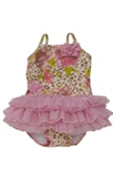 Kate Mack Baby-Girl's Infant On the Wild Side Tutu Swimsuit in Multi