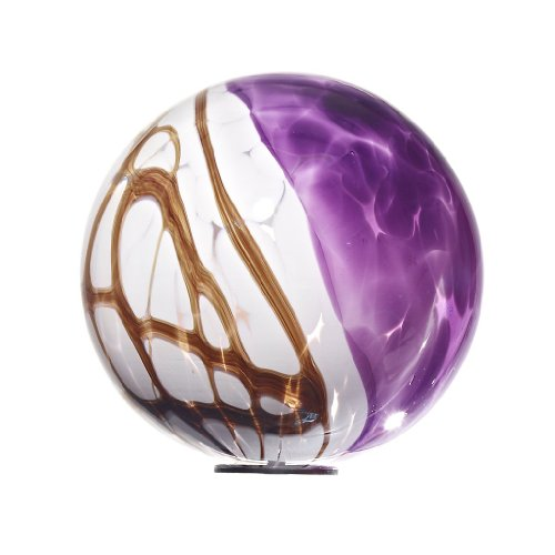 Garden Globe, Roseglobe, Glass Globe, violet, diameter aprox. Ø 13 cm, decorative ornament, sphere, handblown glass (GardenFlair powered by CRISTALICA)[Garden Globe, Roseglobe]