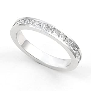 Platinum Channel set Diamond Wedding Band Ring (G-H/VS, 2/3 ct.), 5.5