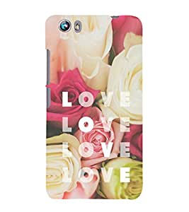 EPICCASE Flowery love Mobile Back Case Cover For Micromax Canvas Fire 4 A107 (Designer Case)